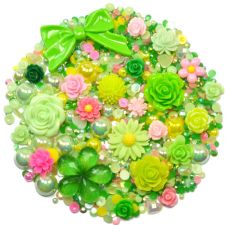 'WILD MEADOW' Theme Rhinestone and Cabochon Mix
